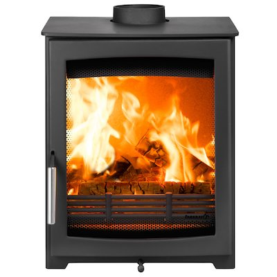 Parkray Aspect 5 Wood Stove Black Silver Handles