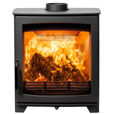Parkray Aspect 5 Slimline Wood Stove Black Black Handles