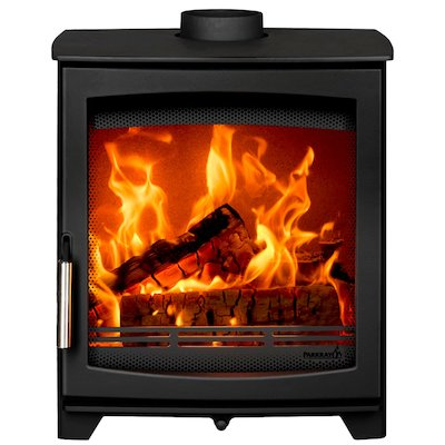 Parkray Aspect 6 Wood Stove Black Silver Handles