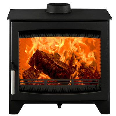 Parkray Aspect 7 Wood Stove Black Silver Handles