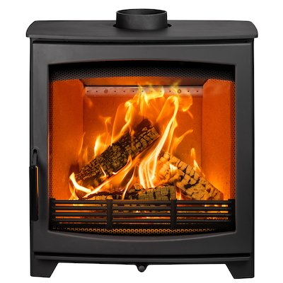 Parkray Aspect 8 Slimline Wood Stove Black Black Handles