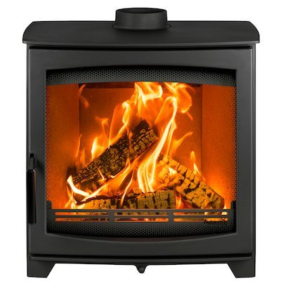 Parkray Aspect 9 Wood Stove Black Black Handles