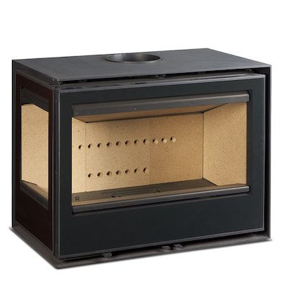 Rocal Habit 76 Wood Stove Black Left Side Glass