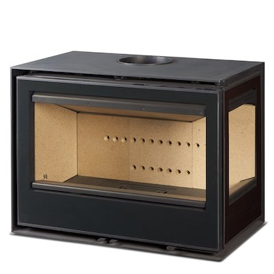 Rocal Habit 76 Wood Stove Black Right Side Glass