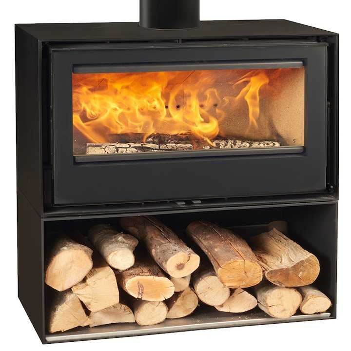 Rocal Habit 100 Logstore Wood Stove - Black