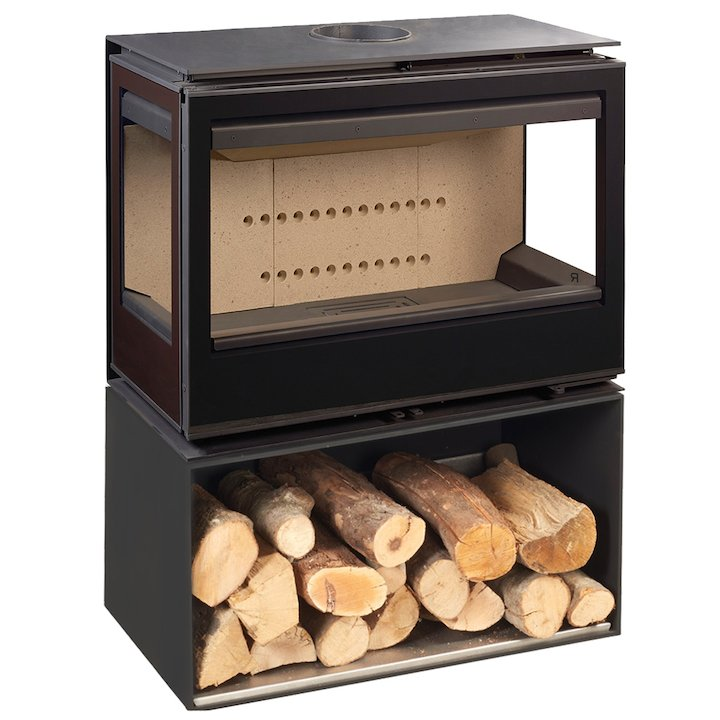 Rocal Habit 73 TC Logstore Wood Stove - Black