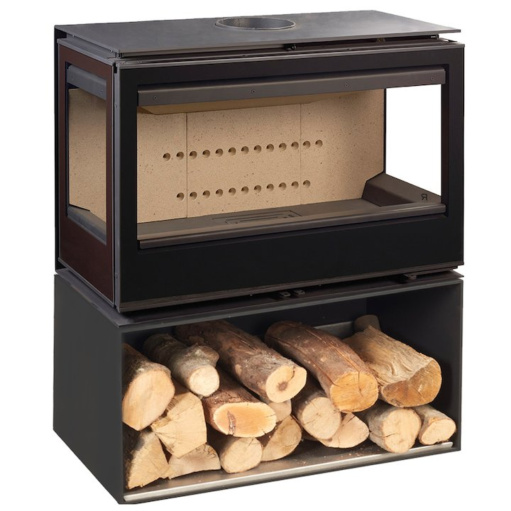 Rocal Habit 93 TC Logstore Wood Stove - Black
