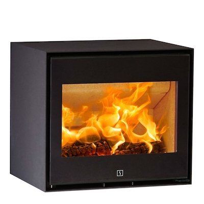 Scan 1010 Wood Stove Black Black Trim