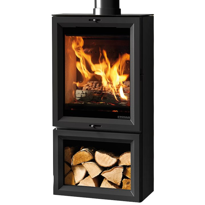 Stovax View 5 Tall Midline Wood Stove - Black