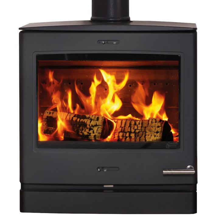 Yeoman CL5 Wide Wood Stove - Black