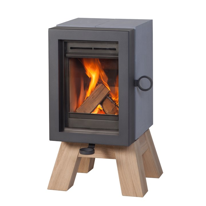 Wanders Oak Wood Stove Grey Wood Legs - Grey