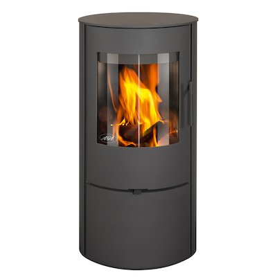 AGA Lawley Wood Stove Black Logstore with Door
