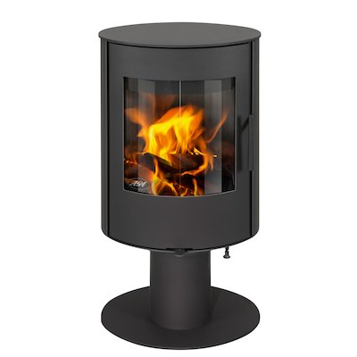 AGA Lawley Wood Stove Black Rotating Pedestal
