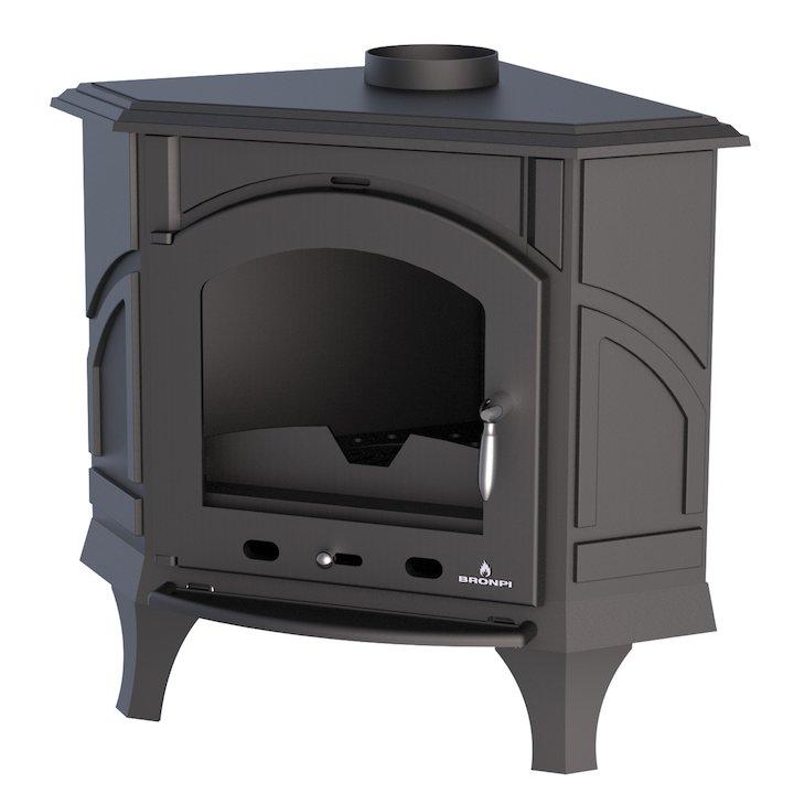 Bronpi Altea Wood Stove - Black