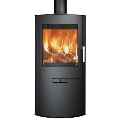Broseley Evolution Flair 8 Multifuel Stove Black Logstore with Door