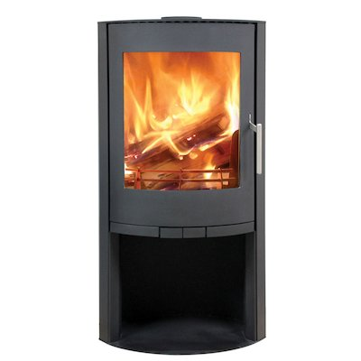 Broseley Evolution Flair 8 Multifuel Stove Black Open Logstore