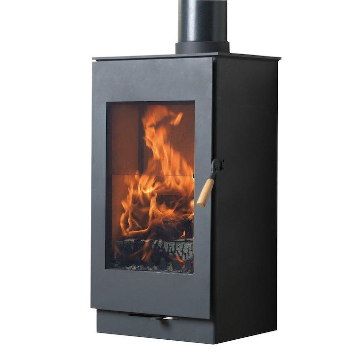 Burley Carlby 7 Firecube Wood Stove - Black