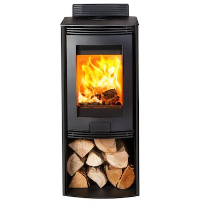 Di Lusso R4 Euro Wood Stove Black Straight Sides
