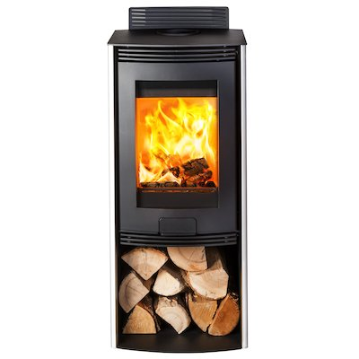 Di Lusso R4 Euro Wood Stove Stainless Steel Straight Sides