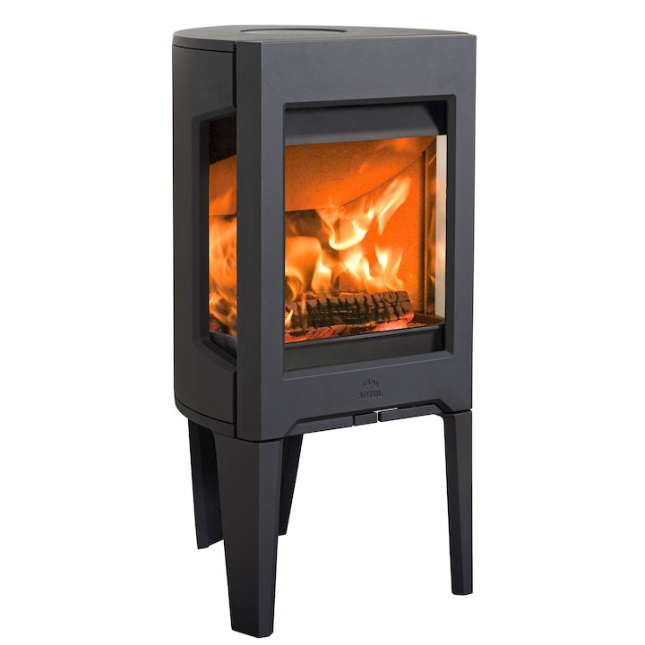 Jotul F160 Wood Stove Black Side Glass Windows - Black