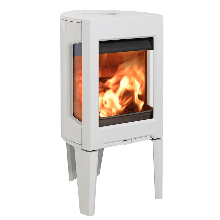 Jotul F160 Wood Stove Enamel White Side Glass Windows - Enamel White