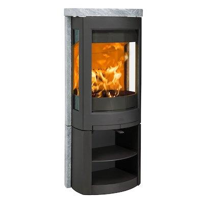 Jotul F371 Advanced Wood Stove Black/Soapstone Open Logstore