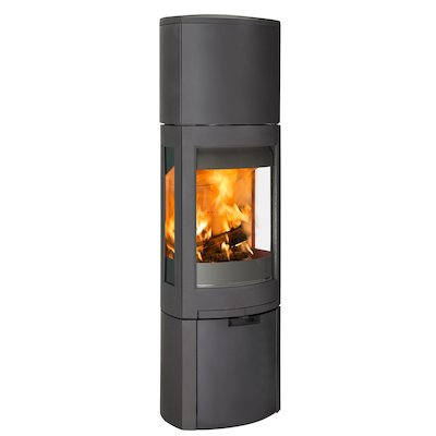 Jotul F371 Advanced High Top Wood Stove Black Logstore with Door