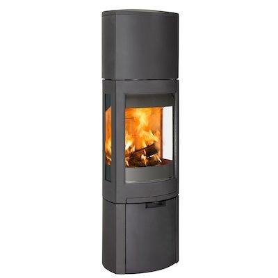 Jotul F371 Advanced High Top Wood Stove Black Logstore with Door