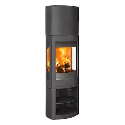 Jotul F371 Advanced High Top Wood Stove Black Open Logstore