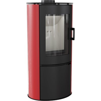 Kratki Koza AB Logstore Wood Stove Ceramic Red Tiles Steel Door