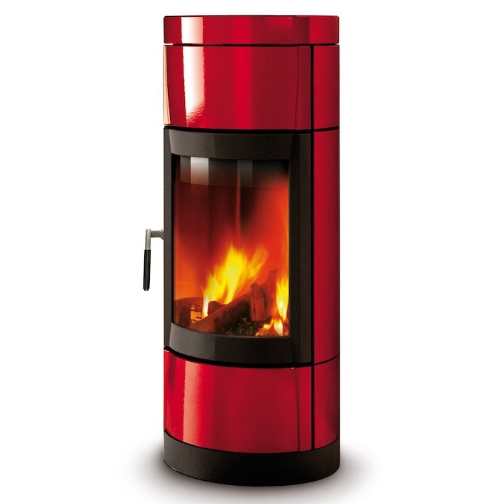 La Nordica Fortuna Wood Stove - Bordeaux