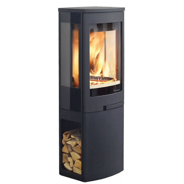 Nordpeis Duo 2 Wood Stove - Black