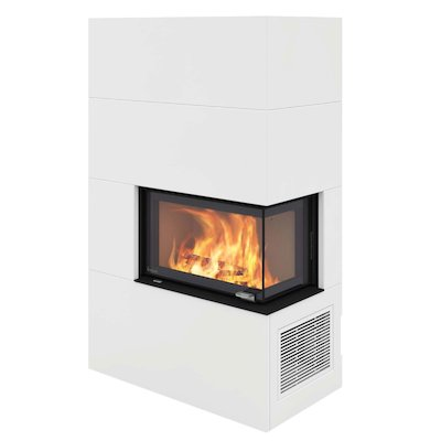 Nordpeis Panama Q34AL Wood Stove White Right Side Glass