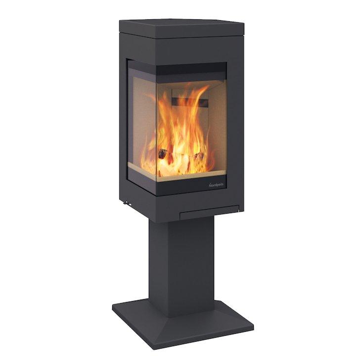 Nordpeis Quadro 1 Wood Stove - Black