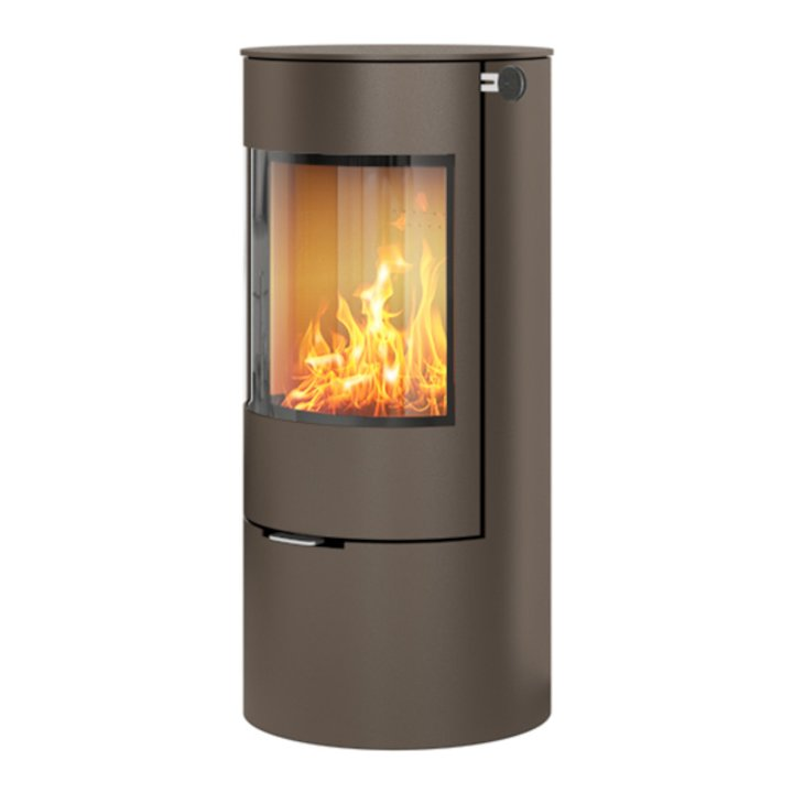 Rais Viva 100L Wood Stove Mocha Metal Framed Door Solid Sides - Mocha