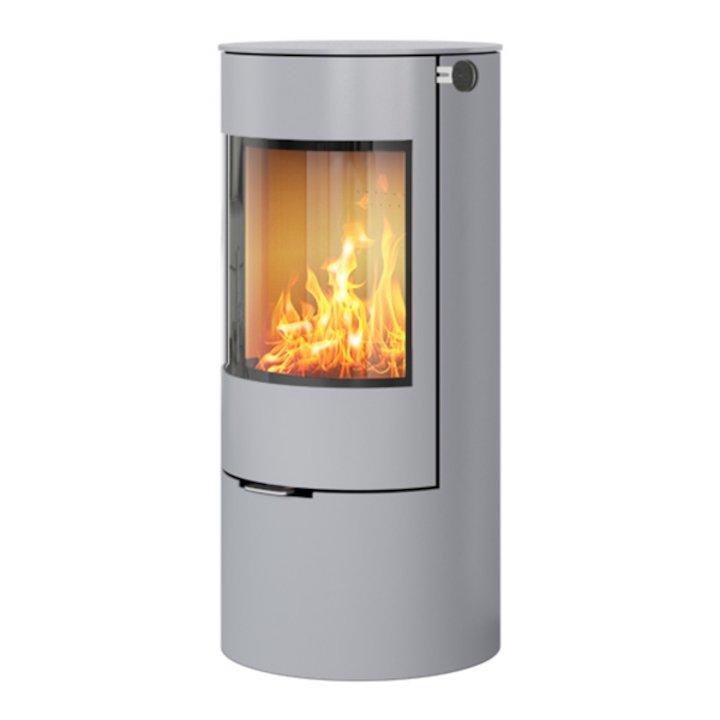 Rais Viva 100L Wood Stove Nickel Metal Framed Door Solid Sides - Nickel