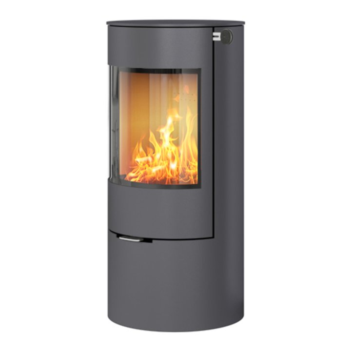 Rais Viva 100L Wood Stove Platinum Metal Framed Door Solid Sides - Platinum