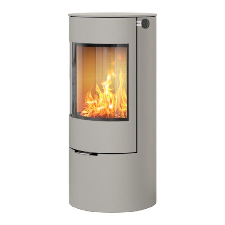 Rais Viva 100L Wood Stove Silver Metal Framed Door Solid Sides - Silver Filigree