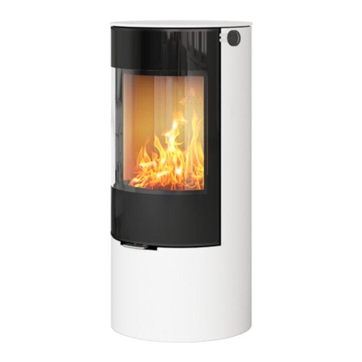 Rais Viva 100L Wood Stove White Black Glass Framed Door Solid Sides - White