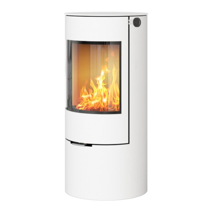 Rais Viva 100L Wood Stove White Metal Framed Door Solid Sides - White