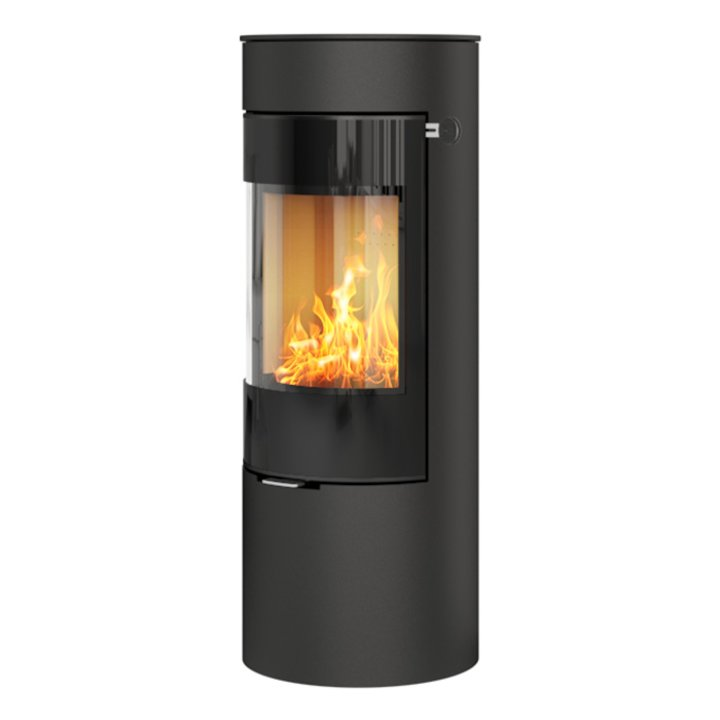 Rais Viva 120L Wood Stove Black Black Glass Framed Door Solid Sides - Black