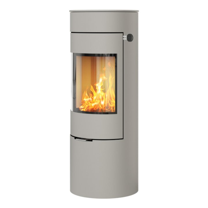 Rais Viva 120L Wood Stove Nickel Metal Framed Door Solid Sides - Nickel