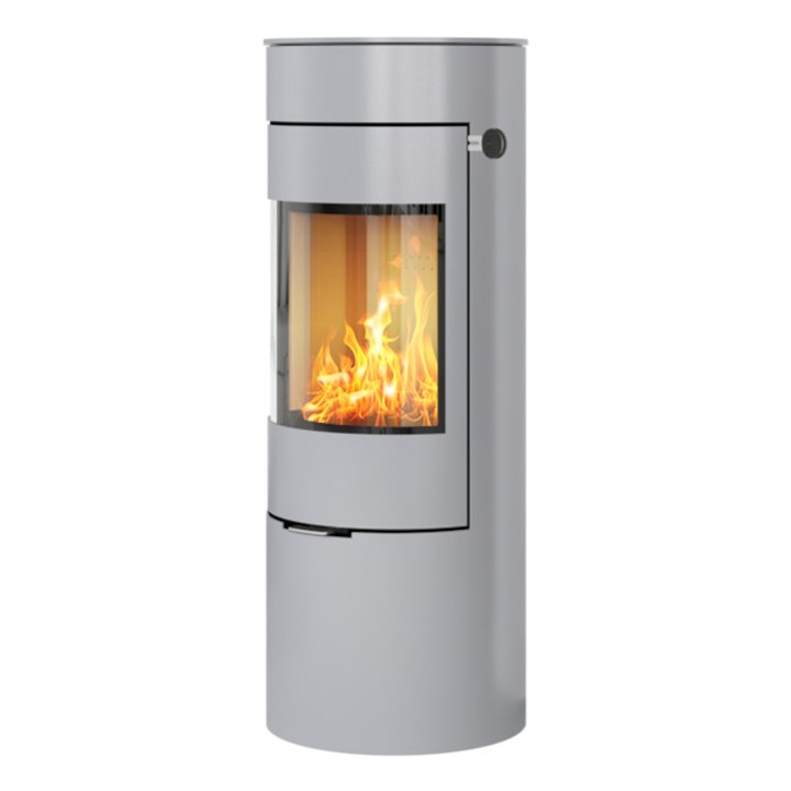 Rais Viva 120L Wood Stove Silver Metal Framed Door Solid Sides - Silver Filigree