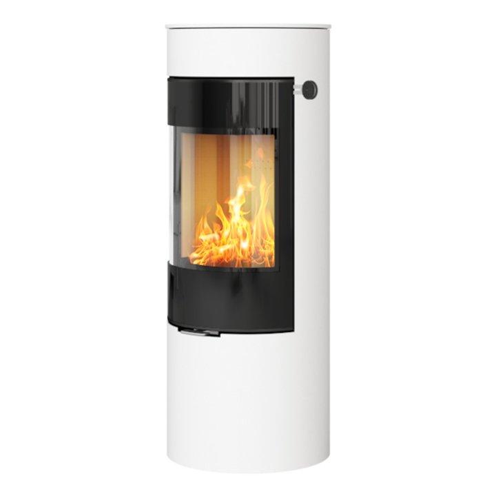 Rais Viva 120L Wood Stove White Black Glass Framed Door Solid Sides - White