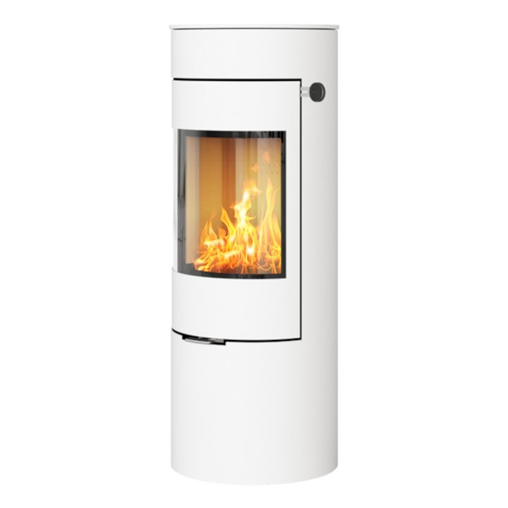 Rais Viva 120L Wood Stove White Metal Framed Door Solid Sides - White