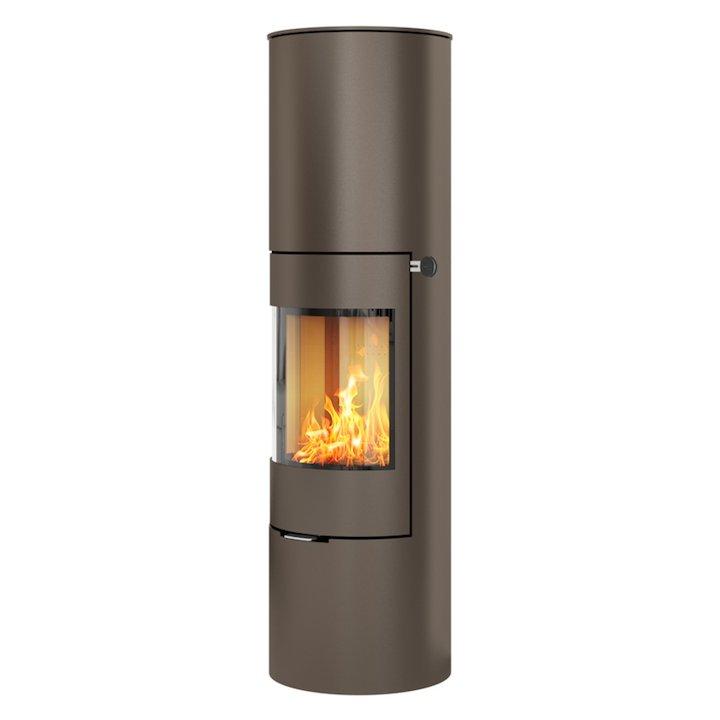 Rais Viva 160L Wood Stove Mocha Metal Framed Door Solid Sides - Mocha