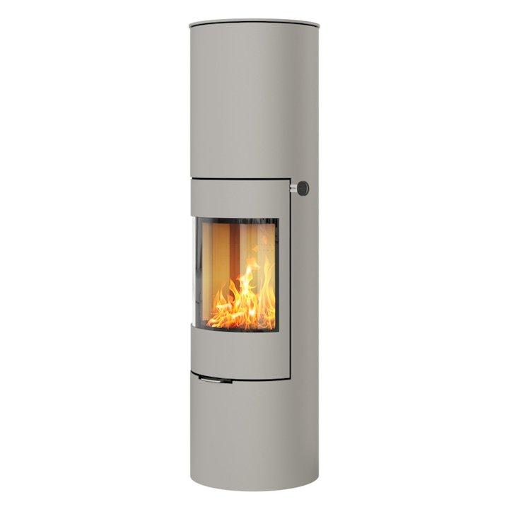 Rais Viva 160L Wood Stove Nickel Metal Framed Door Solid Sides - Nickel