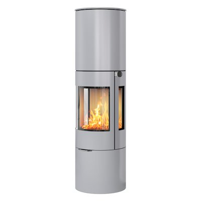 Rais Viva 160L Wood Stove Silver Metal Framed Door Side Glass Windows