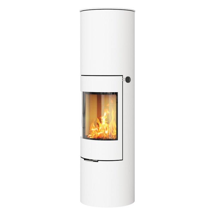 Rais Viva 160L Wood Stove White Metal Framed Door Solid Sides - White