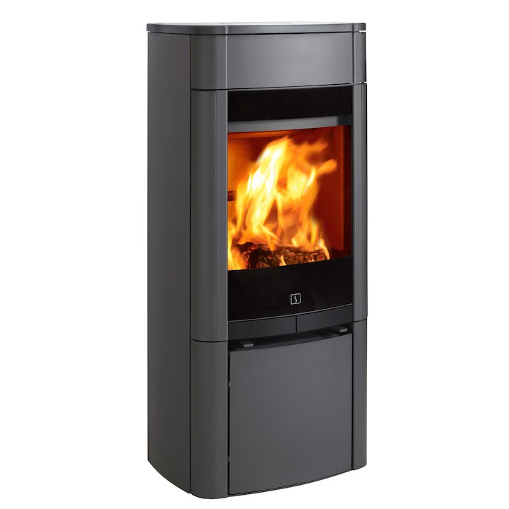 Scan 65 Wood Stove Grey Solid Sides - Grey